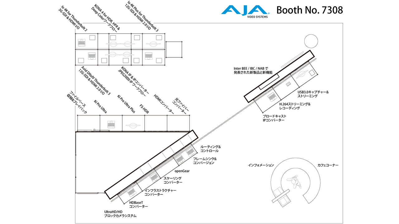 AJA InterBEE2017 booth map